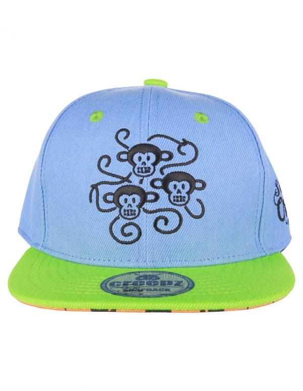 Creepz Kids Cap Hanging Chimps Blue Green