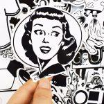 Creepz Sticker Bomb Black & White Cartoon 100 pcs.