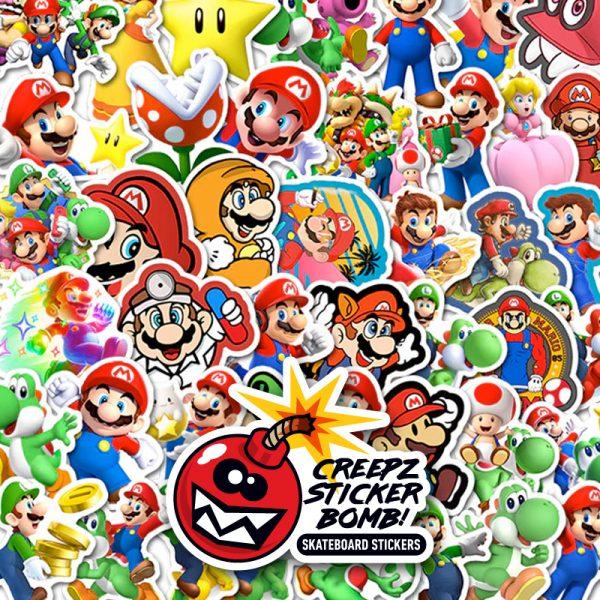 Creepz Sticker Bomb Mario 50 pcs.