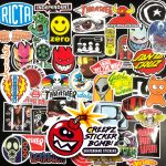 Creepz Sticker Bomb Skateboard Brands 100 pcs.