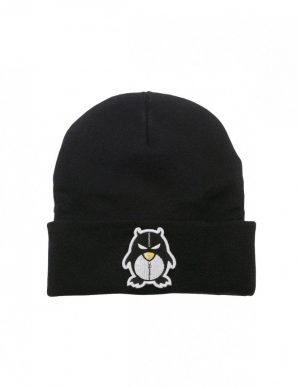 BEANIE ZIPPER BLACK