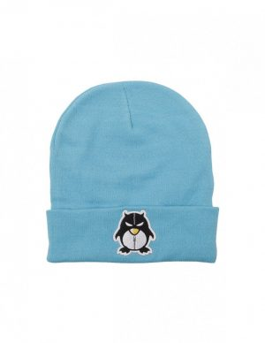 BEANIE ZIPPER ICE BLUE