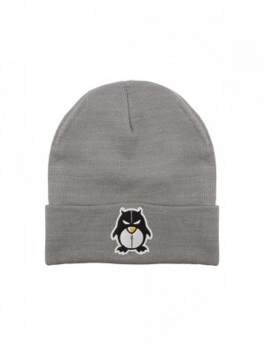 BEANIE ZIPPER LIGHT GREY